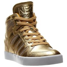 Neo Gold Shoes by Adidas Gold Sneakers, Gold Shoes, Sneakers Nike, Cute Shoes, Me Too Shoes, Adidas Neo Shoes, Nike Inspiration, Kms California, Nike Headbands