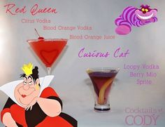 20 #cócteles inspirados en #Disney - Red Queen #cocktail #inspiration