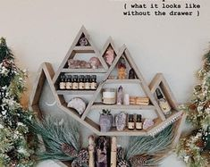 Drew and Jordan making all things wooden for your home! Essential Oil Shelf, Essential Oils, Hippie Men, Small Town Girl, Floating, Make All, Small Towns, Rocks, Room Ideas