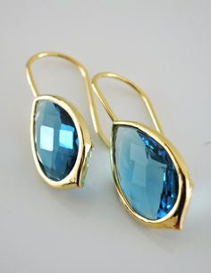 Sapphire Crystal Drop Earrings. At first glance I thought these were sunglasses...!