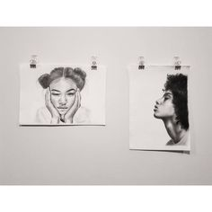 First two done & dusted ✌  // Graphite  & Charcoal on watercolour paper (250gsm). // IG @porsche_tiavale.  Prints by request ✌