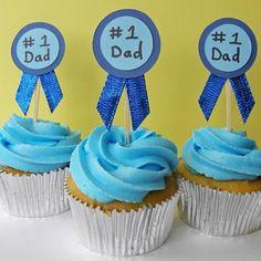Father's Day Blue Ribbon Cupcake Recipe