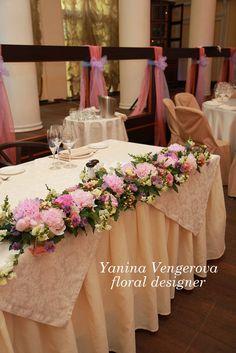 Розово-сиреневая свадьба. Пионы в оформлении.