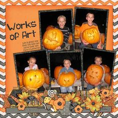 Template: Border Pack 3 by AKDesigns Kit: Mr. Jack-O-Lantern by Fit 2 Be Scrapped