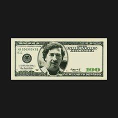 Pablo Escobar Money, Pablo Escobar Poster, Pablo Escobar T Shirt, Narcos Escobar, Narcos Wallpaper, Dollar Tattoo, T Shirt Logo Design, Ichigo Y Rukia, Chicano Art Tattoos