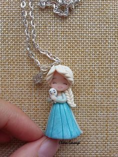 Polymer clay characters - Elsa