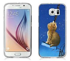 S7 Case, Samsung Galaxy S7 Case Thinking Kitty