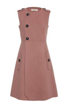 Asymmetric Button Closure Dress by BALLY for Preorder on Moda Operandi