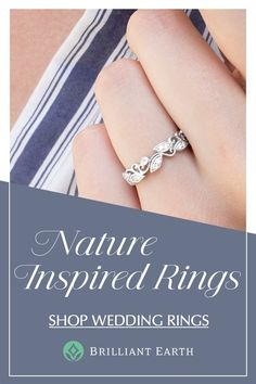 Rings Unique Find a wedding ring that is naturally beautiful. At Brilliant Earth, we take inspiration from nature in crafting unique wedding ring designs. Contact one of our jewelry experts today to find your dream ring. Pretty Rings, Beautiful Rings, Wedding Ring Designs, Wedding Jewelry, Pick Up, Big Engagement Rings, Diamond Wedding Rings, Solitaire Rings, Diamond Rings