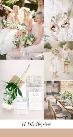 Hazelnut Spring Wedding Inspiration Board