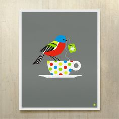Painted Bunting print by bee things.  I love these designers!