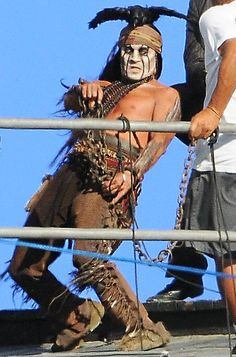 "Johnny Depp filming ""The Lone Ranger"" on September 13, 2012 in Los Angeles, California."