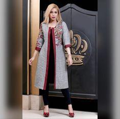 60 Fashion, Abaya Fashion, Blazer Fashion, Fashion Dresses, Fashion Design, Mode Abaya, Mode Hijab, Hijab Style Dress, Iranian Women Fashion