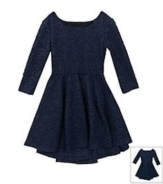 Rare Editions® Girls' 7-16 Jacquard Fit And Flare Dress