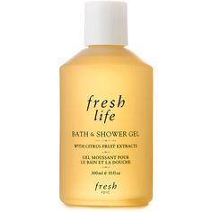 Fresh Life Bath and Shower Gel (26 CAD) ❤ liked on Polyvore featuring beauty products, bath & body products, body cleansers, fillers, beauty, fillers - yellow, makeup, orange and magazine