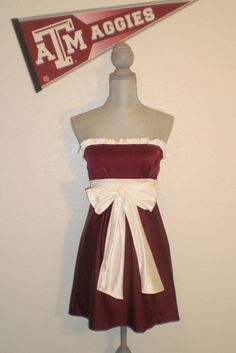 Texas Aggies Colors Game Day Dress Texas True Colors gameday dress.  via Etsy.