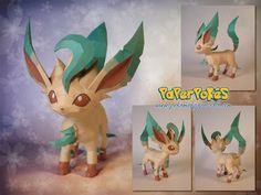 Paperpokés - Pokémon Papercrafts: LEAFEON :D THESE. ARE I CAN'T FIND ANY WORDS TO DESCRIBE THEM. Pokemon, Papercraft, eveelution papercraft, Leafeon papercraft for kids, Leafeon papercraft