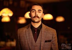 12 Hipster Mustache Styles for Modren Men - Be Snazzy Handlebar Mustache, Moustache, Hipster Mustache, Mustache Styles, The Man, Classic Style, Hot Guys, Suit Jacket, Grease
