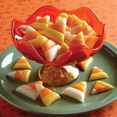 Making this candy corn is almost like magic. You won't believe how easy it is, and your trick-or-treaters will be impressed!
