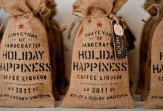 coffee bean burlap bag - Google Search