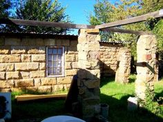 Stunning sandstone house with extra cottages. Free State, Home Free, Country Living, Cottages, Property For Sale, Pergola, Sweet Home, Houses, Exterior