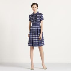 This shirtdress just seems so collegiate to me— needs a camel  coat, a book strap, and possibly a hat.