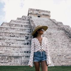 """""""#faithfulltraveller @lusttforlife exploring the Mayan ruins of Chichen Itza, Mexico. Olivia wears the 'Natalia top' - available online & in selected…"""""""