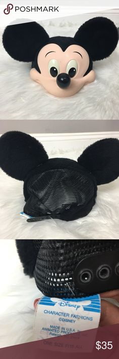 Vintage Disney Mickey Mouse 3D trucker hat Amazing and so old school. 3D Mickey head on a trucker hat. One size fits most. Disney Other