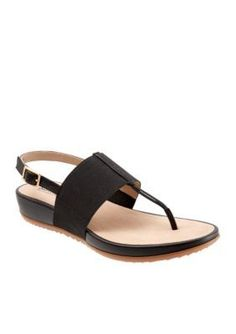 Softwalk Black Daytona Sandal