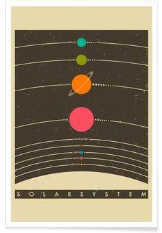 Solar System als Premium Poster von Jazzberry Blue
