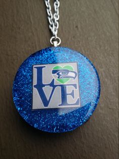 Seahawks Love Beaded Necklace by PsychoBoutique on Etsy
