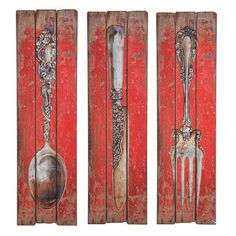 Wall Decor Cutlery Set of 3 now featured on Fab.