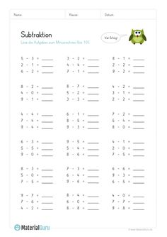 Rechnen Lernen Vorschule – Rebel Without Applause Addition And Subtraction Worksheets, Letter Games, 1st Grade Worksheets, Diy Projects For Beginners, Maths Puzzles, Social Trends, Free Math, Busy Book, Kindergarten Math