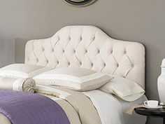 Fashion Bed Group B72123 Martinique Upholstered Adjustable Headboard Panel with Solid Wood Frame and Button-Tufted Design, Ivory Finish, Twin Fashion Bed Group http://smile.amazon.com/dp/B006K0WBJC/ref=cm_sw_r_pi_dp_UhnOwb0ZZA32E