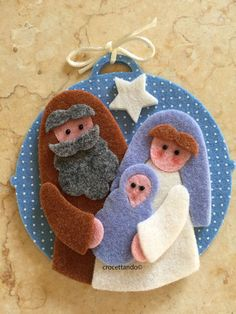 Nativity Ornaments, Felt Christmas Ornaments, Easy Christmas Crafts, Christmas Projects, Simple Christmas, Christmas Holidays, Christmas Decorations, Bible Crafts, Felt Crafts