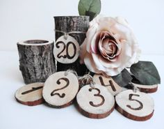 Table Numbers Rustic Table Numbers Wood Table by DaliasWoodland, €30.00