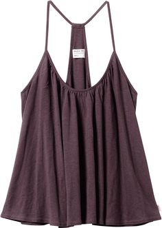 Prettiest little plum T-back tank and it looks just slightly cropped! This would be cute with anything from a pair of denim shorts this summer, or over a high waisted pencil skirt $32