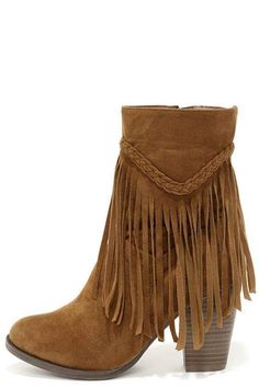 Perfect Fringed Brown Suede Leather Boots To Look Chic