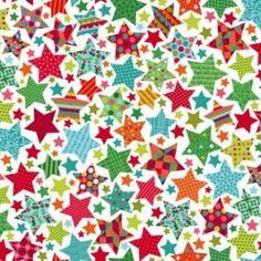 Makower Christmas 2015 Festive Stars On White Quilt Cotton Christmas Fabric, Retro Christmas, Christmas 2015, Christmas Stars, Patchwork Fabric, Fabric Yarn, Cotton Fabric, Christmas Colour Schemes, Christmas Colors