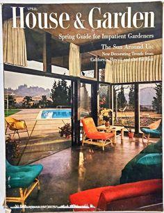 April 1954 House Garden Magazine New York Oriental Style Switzerland