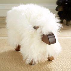 fluffy footstool