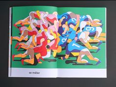 """""""I almost never practice sports,"""" says illustrator Anne-Margot Ramstein, who, despite having no desire to go to the gym or bepartof ateam is fascinated by the visuals of athletic activities. Her recent book of sports drawings, En Forme (or In Shape), investigates the body in motion with extreme p"""