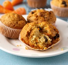 Carrot and Raisin Muffins in the vitamix