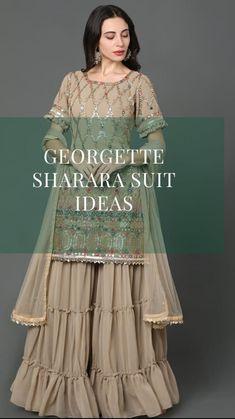 Designer Party Wear Dresses, Designer Gowns, Indian Dresses, Indian Outfits, Sharara Suit, Indian Wear, Indian Attire, Saree Collection, Stylish Dresses