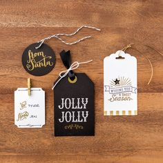 Today, I have some quick and easy Holiday tags to share with you today! It's never too early to plan, right? Thes. Stampin Up Christmas, Christmas Gift Tags, Holiday Cards, Christmas 2015, Card Making Inspiration, Card Tags, Creative Cards, Cool Cards, Greeting Cards Handmade