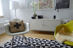Had one of these Ikea cabinets in red but the ex got it.  :-(  sfgirlbybay