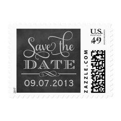 Wedding Save the Date | Vintage Chalkboard