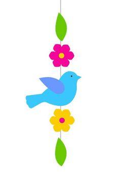 Actividades para Educación Infantil: 16 MANUALIDADES DE PRIMAVERA 2019 Bird Crafts, Felt Crafts, Easter Crafts, Hobbies And Crafts, Diy And Crafts, Crafts For Kids, Decoration Creche, School Decorations, Summer Crafts