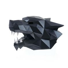 WOLF MASK Papercraft pdf DIY wolf paper mask Masquerade | Etsy Diy Kits For Adults, Diy For Teens, Origami, Cosplay, Low Poly Mask, Wolf Mask, Friend Crafts, Mask Template, Paper Mask