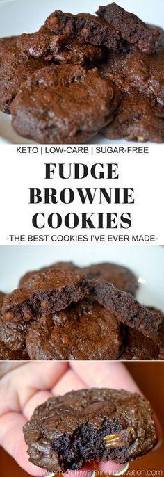 Fudgey Keto Brownie Cookies Ingredients: 2 butter, softened 1 egg, room temperature 1 tbsp truvia (or 3 tbsp additional. Brownie Cookies, Keto Cookies, Chocolate Cookies, Low Sugar Cookies, Almond Cookies, Shortbread Cookies, Low Carb Cookie, Chip Cookies, Health Cookies
